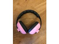 Baby banz ear defenders in pink 0-2 years