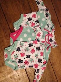 Newborn girl vests