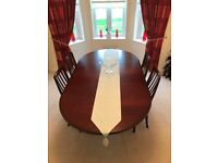 G-Plan extendable dining table with 4 matching G-Plan dining chairs