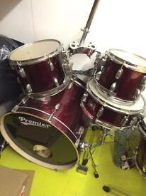 Premier full drum kit