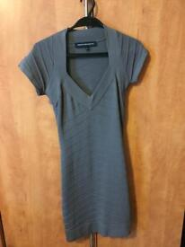 French Connection Bodycon Grey Dress Size 8