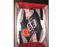 Jordan 3 black cement brand new size 9 comes with receipt