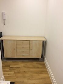 Solid Wood side cabinet with 4 drawers and 2 cupboards