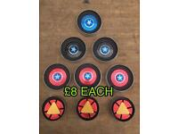 CAPTAIN AMERICA & IRON MAN DISC FIDGET SPINNERS (£8)