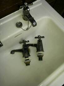Two vintage water taps