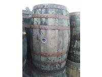 Oak whisky barrels