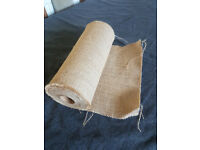 Roll of Hessian Table runner 1ft wide
