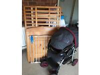 Pushchair - Cot bed - stair gate BUNDLE