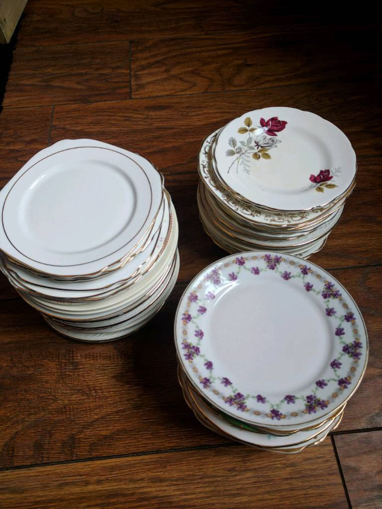 Vintage Plates x 60in Ilkeston, DerbyshireGumtree - Mainly China plates with around 8 stoneware plates. Great condition, ideal for vintage wedding