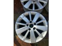 Vw mk6 golf 5x112 alloy wheels