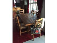 Topaz Solid Wood Dining Table and 6 Chairs