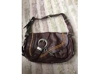 Dior brown genuine leather handbag