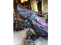 Wilson Golf clubs, Bag & Hill Billy Electric cart