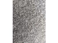 Vilamoura Platinum (grey / silver) carpet offcuts / remnants. 3 pieces