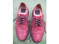 Pair of New Asos Mauve Coloured Leather Shoes - Size 9