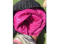 Pink Coleman sleeping diva pink fur edged sleeping bag 2 seasons camping