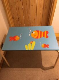 Children's table and two stools