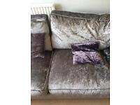 Crushed velvet large 2 seater sofa