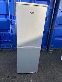 Bush Fridge Freezer Silver 155cm
