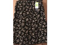 Brand new M&S ladies black and white, size 12 skirt