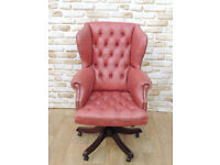 Chesterfield office chair large and comfy (Delivery)