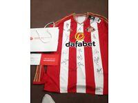 Authenticated signed Sunderland shirt
