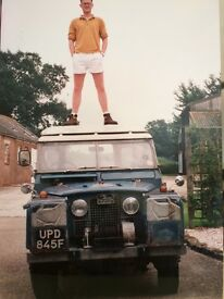 Landrover 2A -UPD 845F Blue Station wagon. Wanted