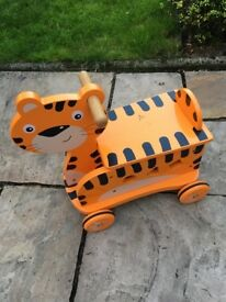 Wooden Tiger Ride-on Toy