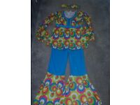 3 piece 70's kids dress up aged 8-10 years