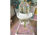 Mothercare ABC highchair- immaculate condition. Current stock.