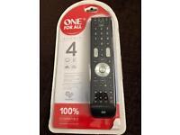 TV Remote control 4in1 TV / DVD / SAT / Audio NEW