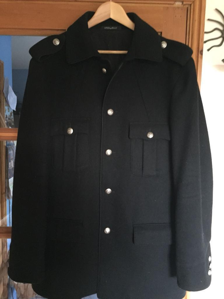 Men's Military Style Coat Large