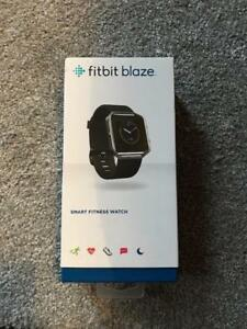 fitbit blaze, SMART FITNESS WATCH, LARGE, STAINLESS STEEL FRAME BLACK BAND, REMOVE ABLE TRACKER $149.99