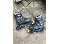 "Rollerblades Roller skates ""California Pro Misty II Black Red Grey Inline"""