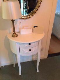 White Telephone Table