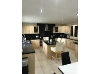 Fully fitted kitchen units plus island