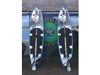 SUP RIBER DELUX INFLATABLE PADDLE BOARD USED TWICE