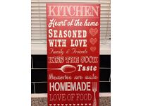 Red Canvas Kitchen Picture