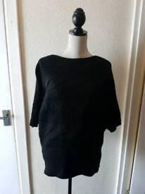 Jane Norman black sparkle jumper size 8