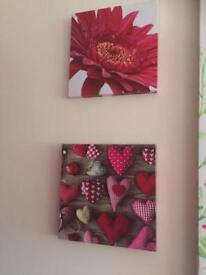 Next red themed canvas x 3