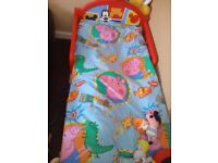 Mickey mouse toddler bed with quilt and pillow plus duvet set but no matress