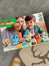 Brand new Lego duplo alphabet truck toy never opened