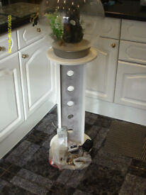 30 LITRE BIORB FISH SILVER WITH DESIGNER WOOD STAND