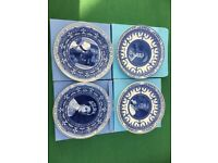 Set of 4 Royal Family Wedgwood Plates - boxed