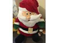 Very large teddy santa clause for sale.