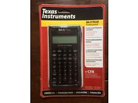 CFA Approved Calculator - BA II Plus Professional - New - £35 (vs £50 RRP)