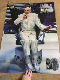 Austin Powers Dr Evil giant film poster