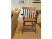 SET OF PINE DINING CHAIRS