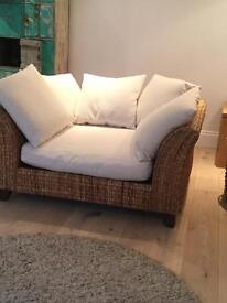 Banana Leaf Suite, 2 x Love Seats, 1 x Daybed/Long Footstool