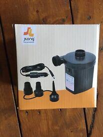 Jilong AC electric air pump with car adaptor, camping, air bed, festival, garden, inflatables, BNIB
